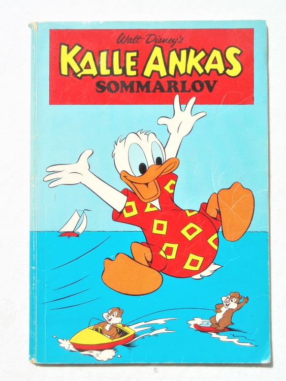 Kalle Ankas sommarlov  bra skick, rygg uppe nere sliten.