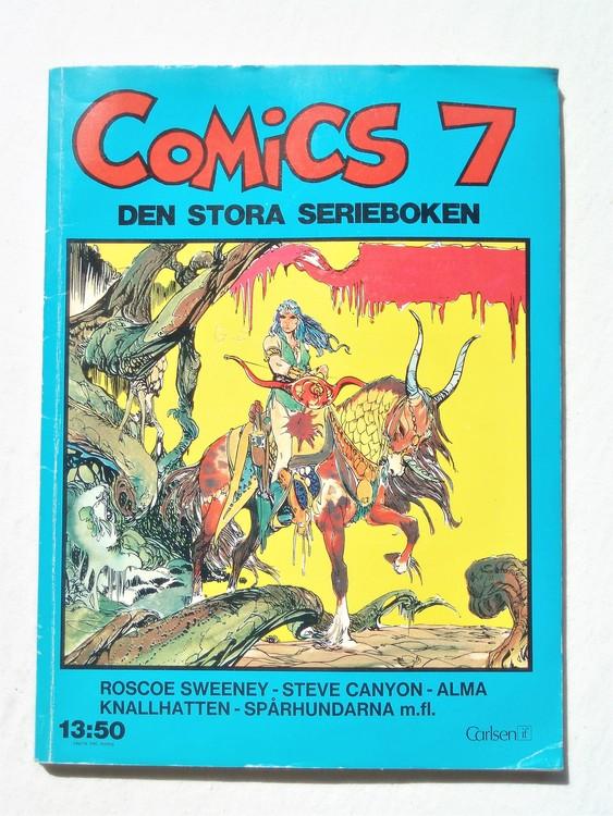 """Comics 7 """"Den stora Serieboken""""1:a upplaga mycket bra skick"""