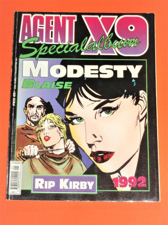 Agent X9 Specialalbum 1992. Grundskick VG. Etikett sista sidan.