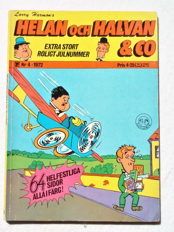 Helan och Halvan& Co nr4 1972 64 sidor färg mycket bra skick
