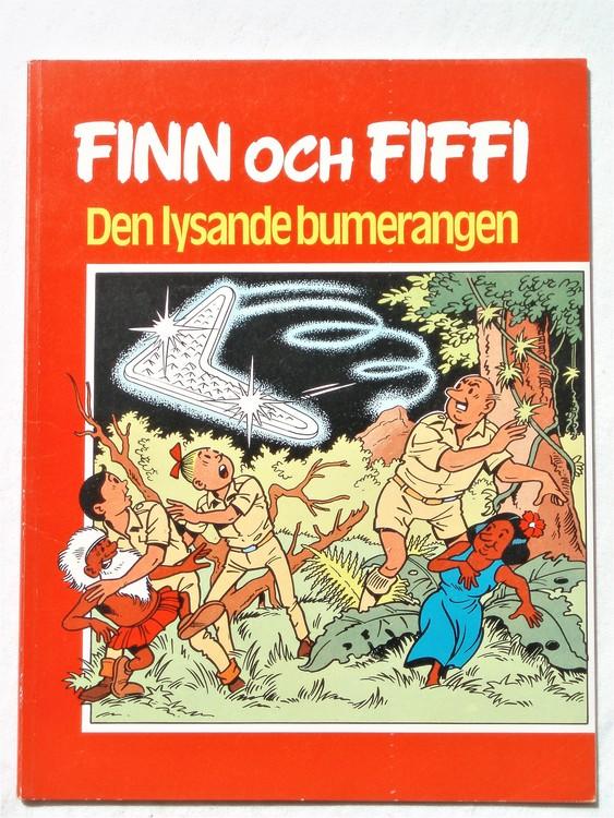 """Finn och Fiffi """"Den lysande bumerangen"""" mycket bra skick"""