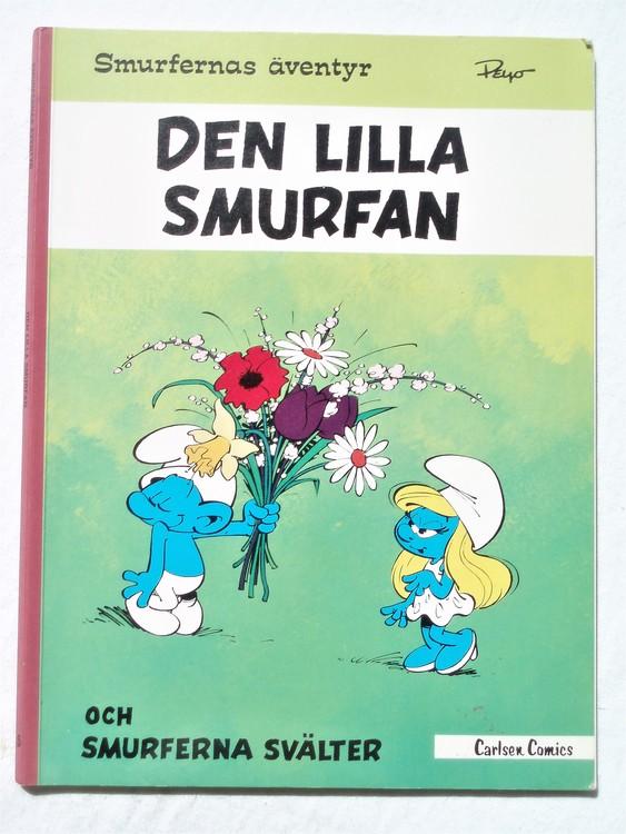 """Smurferna """"Den lilla smurfan""""1978 1:a upplaga mycket bra skick"""