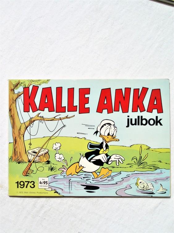 Kalle Anka Julbok 1973 mycket bra skick