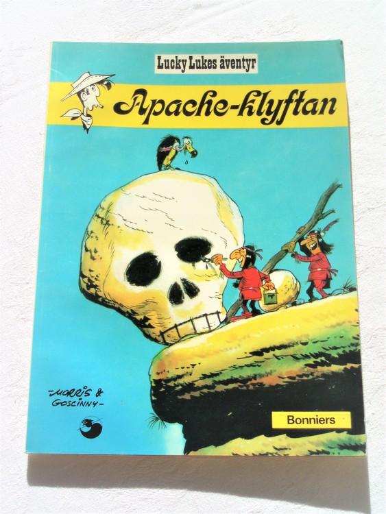 """Lucky Luke""""Apache-klyftan""""nr5,2:a upplaga 1975 Bonniers Ny oläst"""