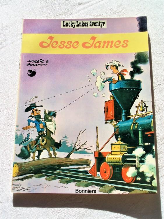 "Lucky Luke""Jesse James""nr4,1:a upplaga 1975 Bonniers Ny oläst"