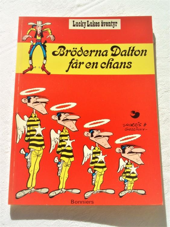 """Lucky Luke""""Bröderna Dalton får en chans""""nr8,1:a upplaga 1975 Bonniers Ny oläst"""