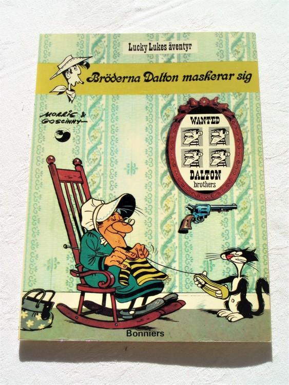 """Lucky Luke""""Bröderna Dalton maskerar sig""""nr12,1:a upplaga 1975 Bonniers Ny oläst"""