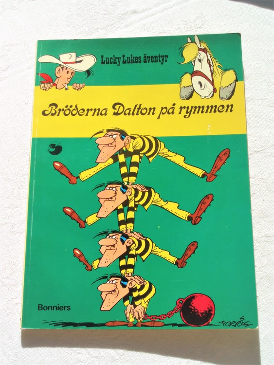 """Lucky Luke""""Bröderna Dalton på rymmen""""nr13,2:a upplaga 1975 Bonniers Ny oläst"""