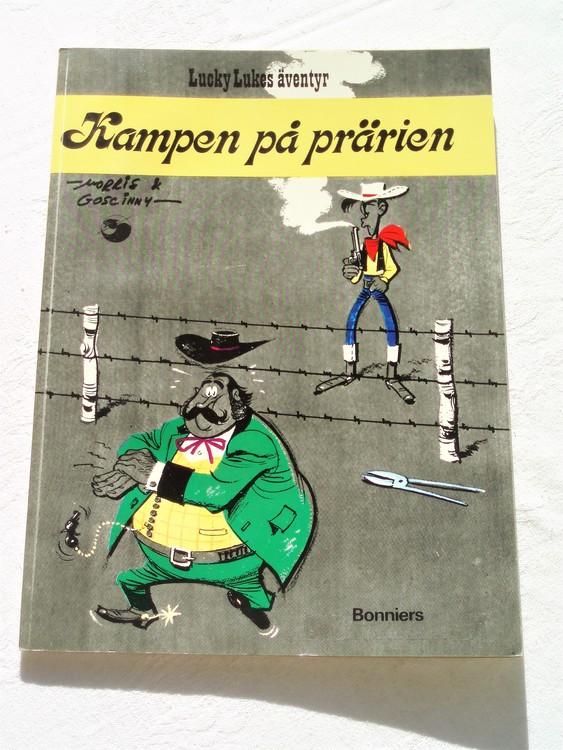 """Lucky Luke""""Kampen på prärien""""nr14,1:a upplaga 1974 Bonniers Ny oläst"""