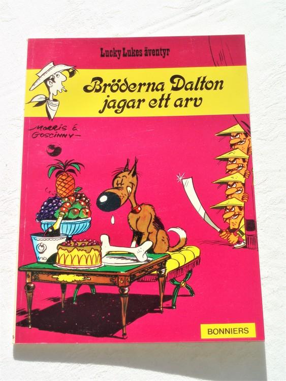 """Lucky Luke""""Bröderna Dalton jagar ett arv""""nr15,1:a upplaga 1974 Bonniers Ny oläst"""