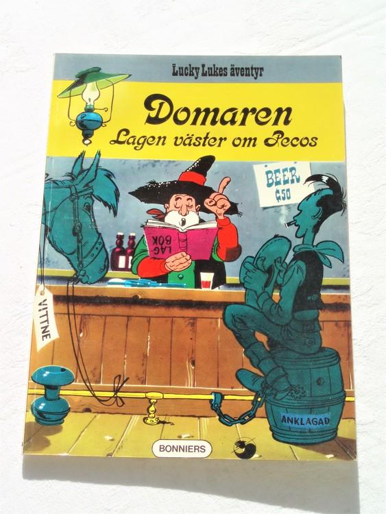 """Lucky Luke""""Domaren-Lagen väster om Pecos""""nr16,1:a upplaga1974Bonniers Ny oläst"""