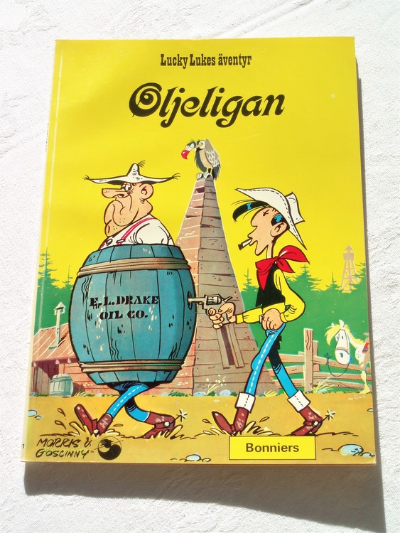 """Lucky Luke""""Oljeligan""""nr21,1:a upplaga 1975 Bonniers Ny oläst"""
