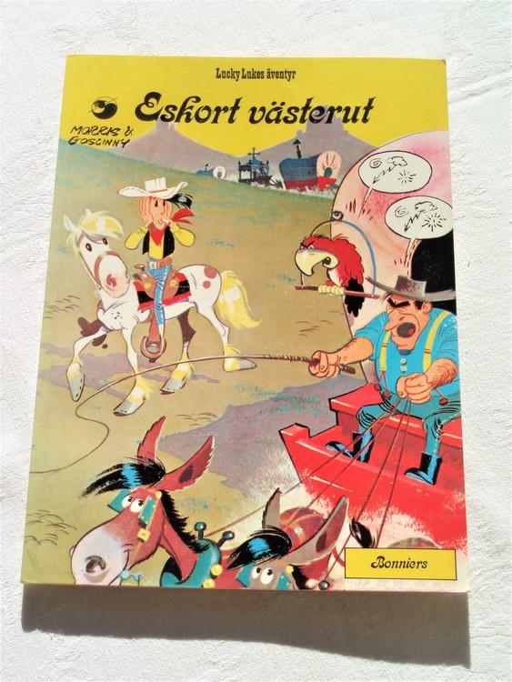 """Lucky Luke""""Eskort västerut"""" nr 22,1:a upplaga 1976 Bonniers Ny oläst"""