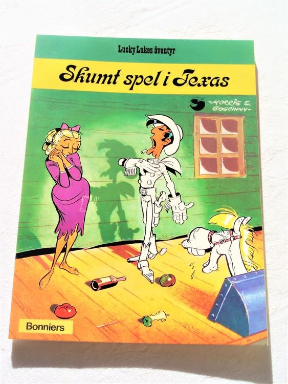 """Lucky Luke""""Skumt spel i Texas""""nr 24,1:a upplaga 1976 Bonniers Ny oläst"""