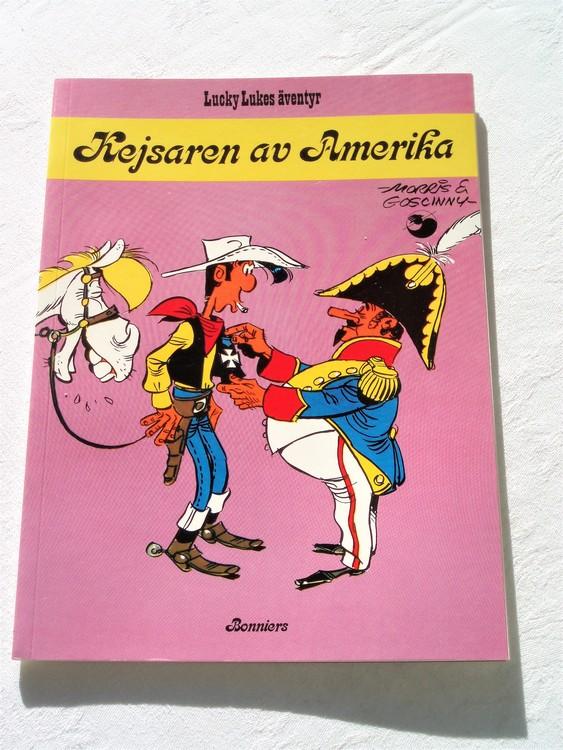 """Lucky Luke""""Kejsaren av Amerika""""nr26, 1:a upplaga 1977 Bonniers Ny oläst"""