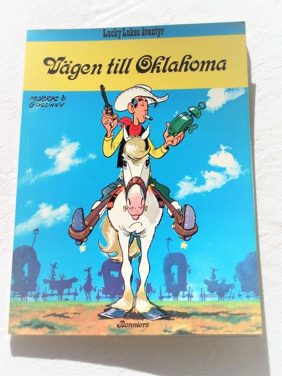 """Lucky Luke""""Vägen till Oklahoma""""nr28,1:a upplaga 1977 Bonniers Ny oläst"""