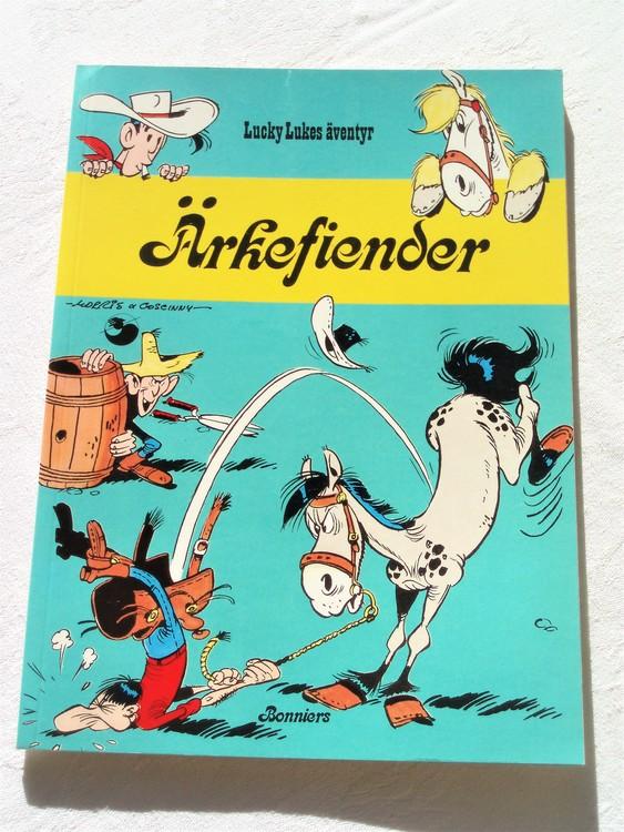 """Lucky Luke""""Ärkefiender""""nr31, 1:a upplaga 1978 Bonniers Ny oläst"""