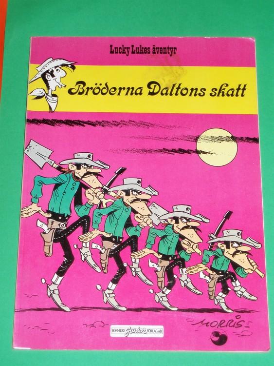 """Lucky Luke """"Bröderna Daltons skatt"""",normalslitet.Bonniers Junior Förlag"""