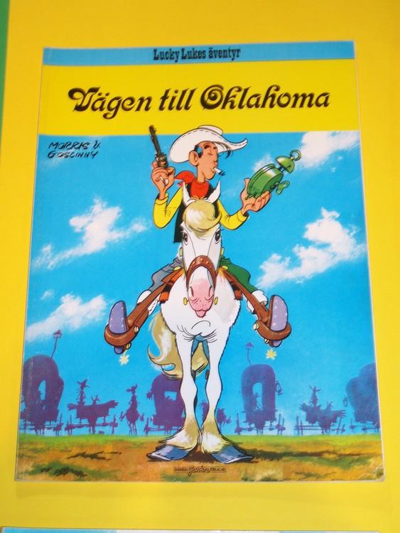 """Lucky Luke """" Vägen till Oklahoma """", normalslitet. Bonniers Junior Förlag"""