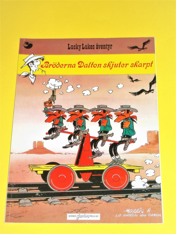 """Lucky Luke """"Bröderna Dalton skjuter skarpt"""",normalskick, normalslitet,Junior"""