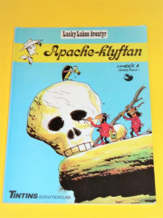 "Lucky Luke ""Apache-Klyftan"",normalskick, normalslitet.Äventyrsklubben"