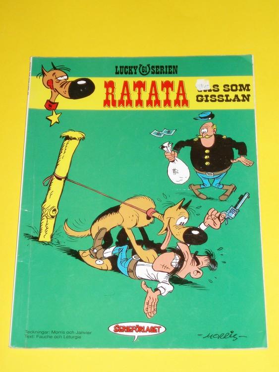 "Lucky Luke ""Ratata tas som gisslan"",normalskick, normalslitet. Serieförlaget"