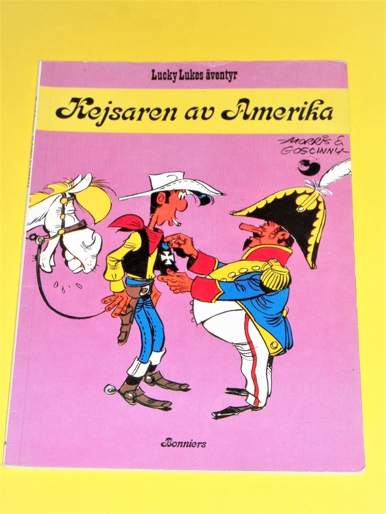 "Lucky Luke""Kejsaren av Amerika"", normalskick, normalslitet. Bonniers."