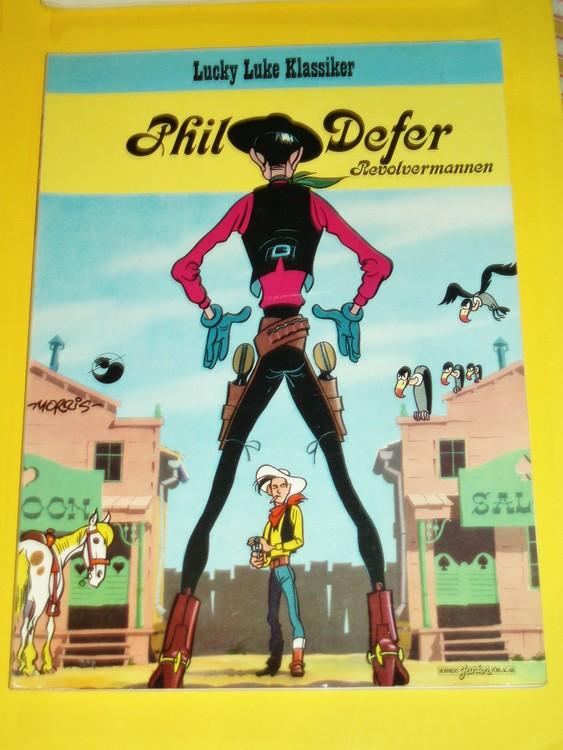 """Lucky Luke """" Phil Defer """", bra skick, normalslitet. Bonniers Junior Förlag"""