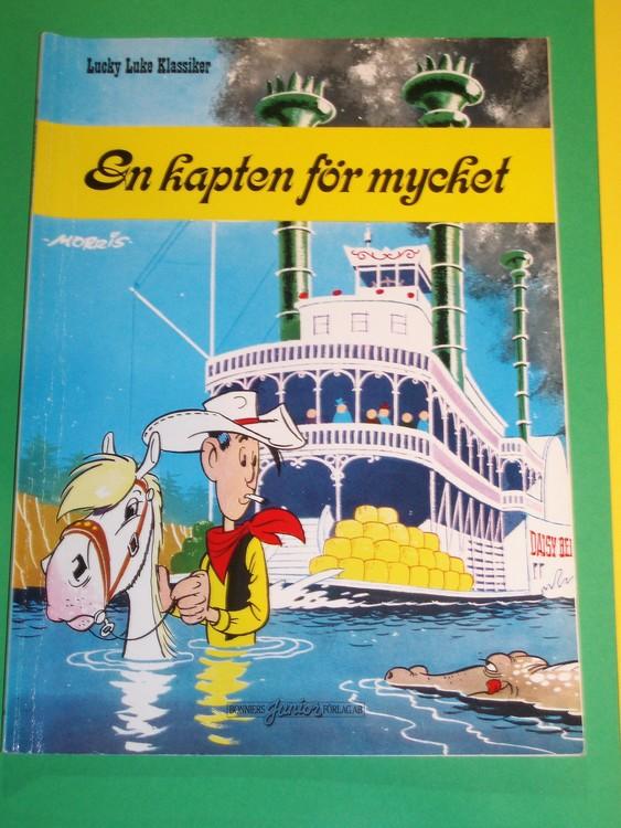 """Lucky Luke""""En kapten för mycket"""",bra skick,normalslitet. Bonniers Junior"""