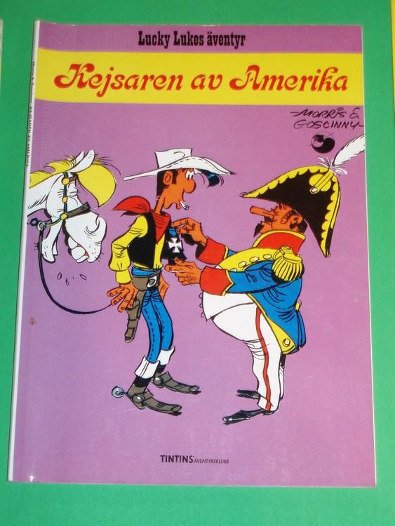 """Lucky Luke """" Kejsaren av Amerika """", bra skick, normalslitet. Äventyrsklubb"""
