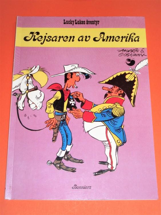 """Lucky Luke""""Kjesaren av Amerika"""",bra skick,normal slitet.Bonniers junior"""