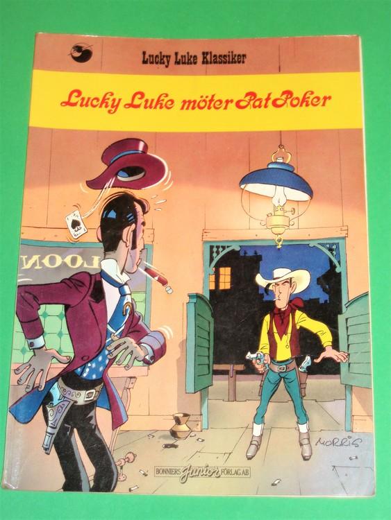 """Lucky Luke""""möter Pat Poker """", normalslitet. Bonniers"""