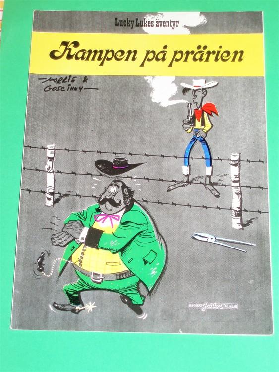 """Lucky Luke """"Kampen på prärien"""", normalslitet. Bonniers Junior Förlag"""