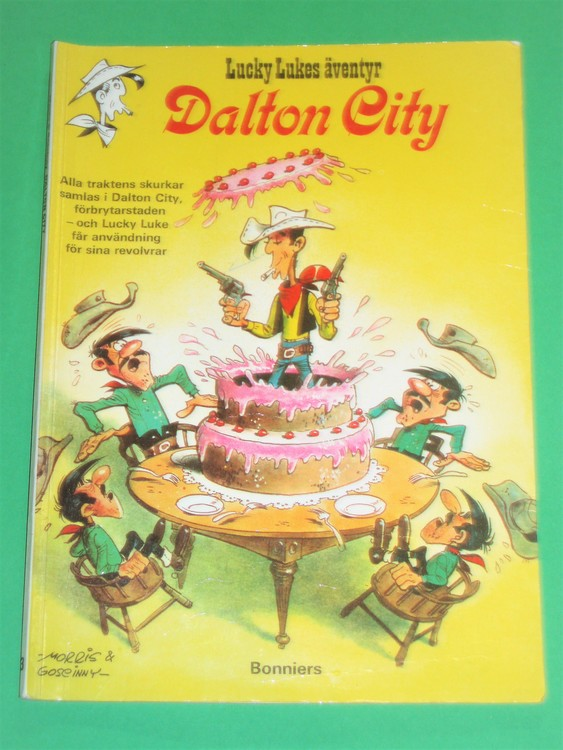 "Lucky Luke "" Dalton City "", välläst, normalslitet. Bonniers"
