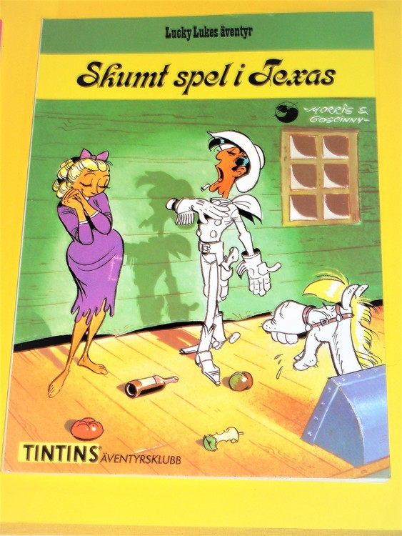 "Lucky Luke "" Skumt spel i Texas"", bra skick, normalslitet. Äventyrsklubb"
