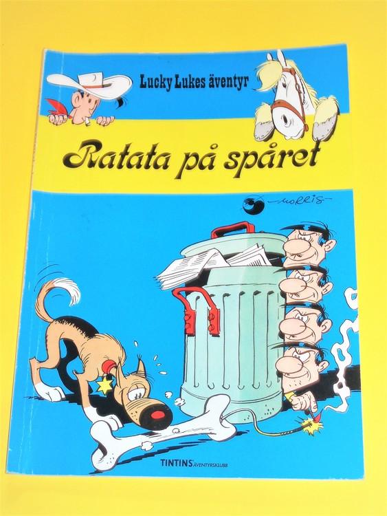 """Lucky Luke """" Ratata på spåret"""", normalslitet. Äventyrsklubb"""