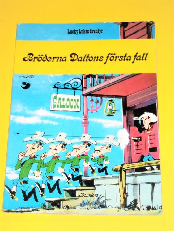 """Lucky Luke """" Bröderna Daltons första fall """", välläst, normalslitet. Bonniers"""