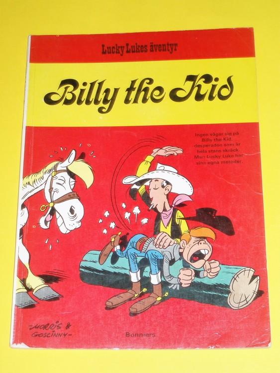 """Lucky Luke """" Billy the Kid """", välläst, normalslitet. Bonniers"""