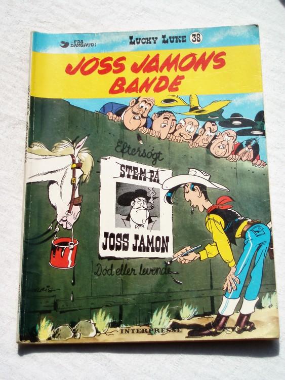 """Lucky Luke""""Joss jamons Bande"""",Dansk version normalskick, normalslitet"""