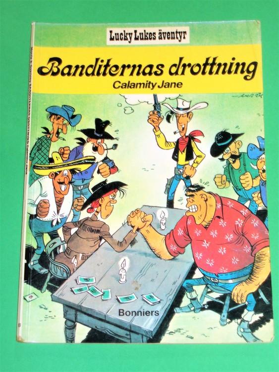 """Lucky Luke """" Banditernas drottning """", välläst, normalslitet. Bonniers"""