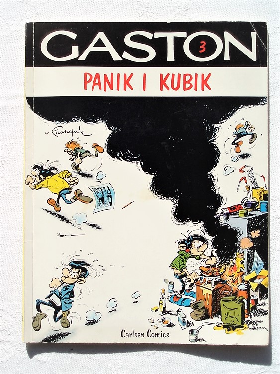 "Gaston nr3,""Panik i Kubik""1:a upplagan 1977,bättre skick Carlsen comics"