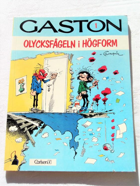 """Gaston""""Olycksfågeln i högform""""nr1,1:a upplaga1976 Carlsen Comics Ny oläst"""
