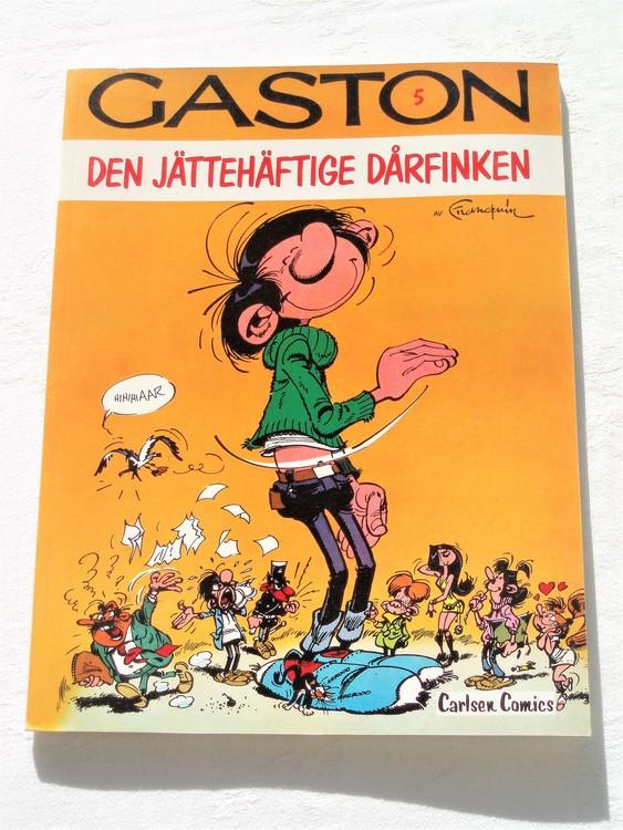 """Gaston""""Den jättehäftige dårfinken""""nr5,1:a upplaga 1978 Carlsen Comics Ny oläst"""
