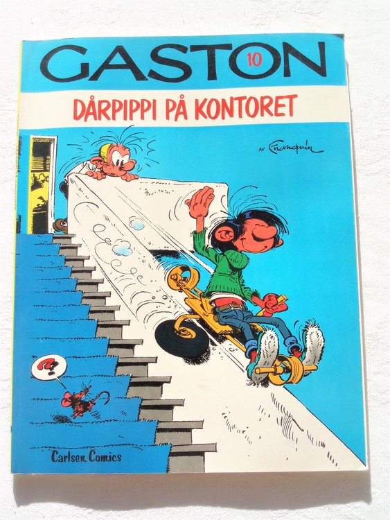 """Gaston""""Dårpippi på kontoret""""nr10,1:a upplaga1981 Carlsen Comics Ny oläst"""