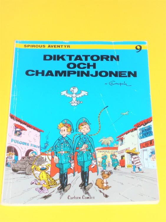 """Spirou """"Diktatorn och Champinjonen VG, normalskick, normalslitet"""