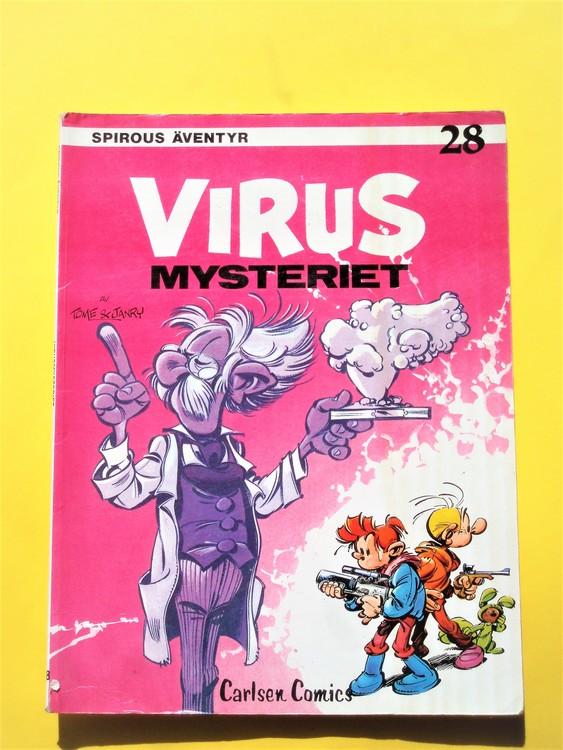 """Spirou""""Virusmysteriet""""1:a upplaga""""1984,nr28,några defekter,Carlsen/if"""