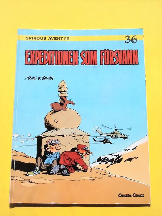 """Spirou""""Expiditonen som Försvann""""1:a upplagan nr36"""",VF-NM fint exemplar"""