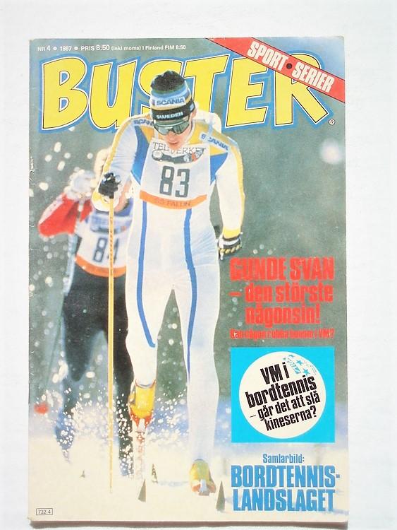 Buster nr 4,1987 semic,normalsliten,mycket bra skick