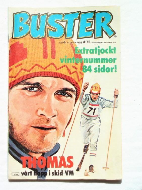 Buster nr 4 1978 Semic, bra skick,normalskick,normalsliten