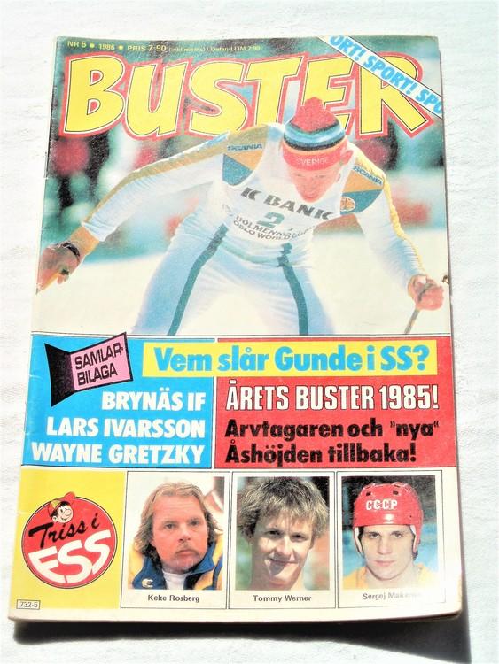 Buster nr 5 1986 semic,bra skick,normalsliten